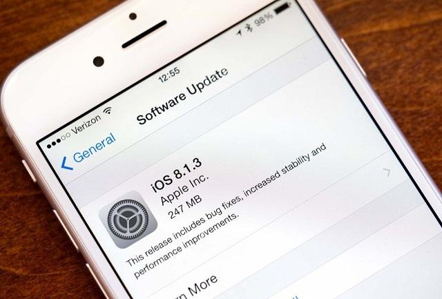 Update phiên bản iOS mới