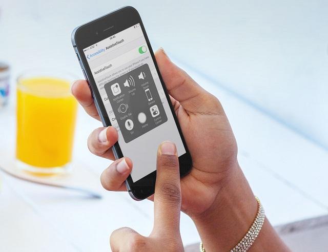 Khóa màn hình iPhone bằng tính năng AssistiveTouch không cần dùng đến phím nguồn cứng