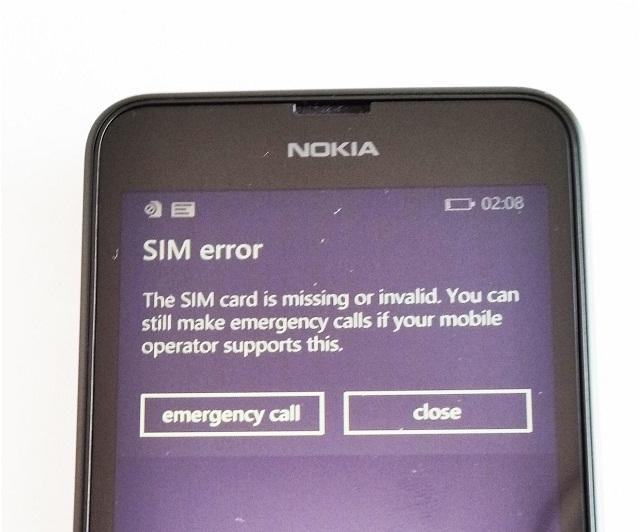 Thông báo lỗi SIM trên điện thoại Nokia