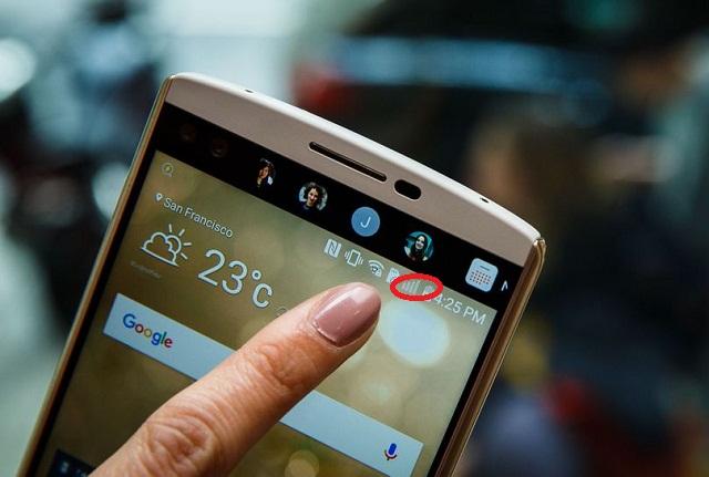 Cột sóng trên điện thoại LG hoàn toàn không có tín hiệu có sóng