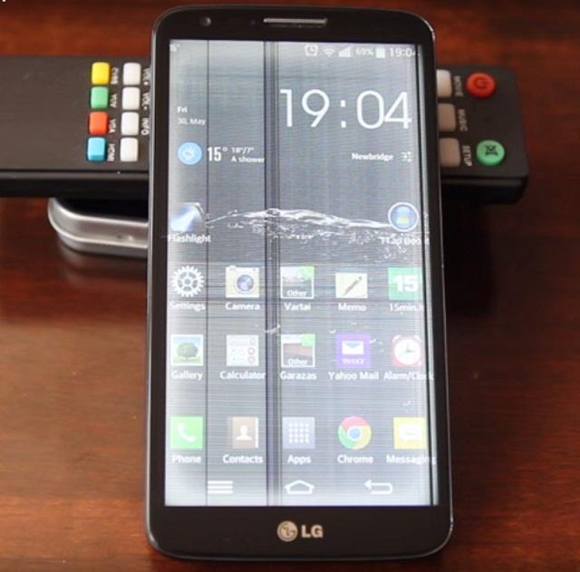 Màn hình điện thoại LG bị sọc trắng