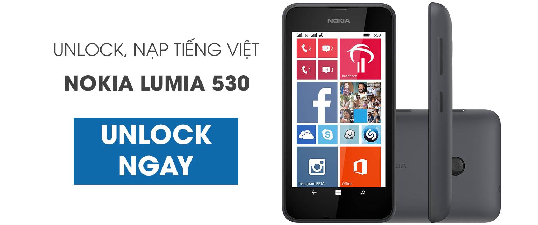 unlock, mở mạng, nạp tiếng việt, uprom nokia lumia 530