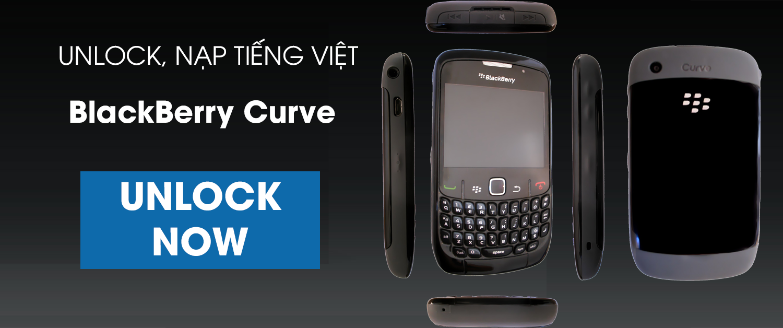 unlock, mở mạng, nạp tiếng việt, uprom blackberry Curve