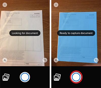scan tài liệu trên iphone