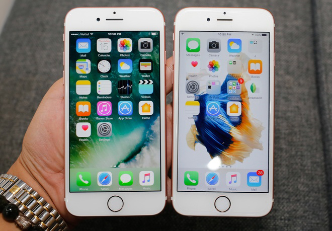 so sánh iphone 6 6s với iphone 7