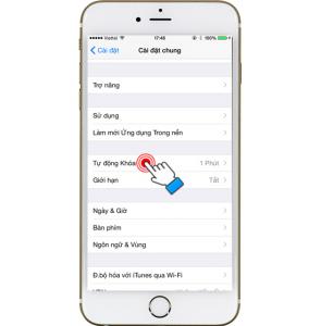 Tùy chỉnh tự động khóa màn hình trên iPhone