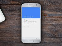 Giao diện đăng nhập tài khoản Google trên Samsung