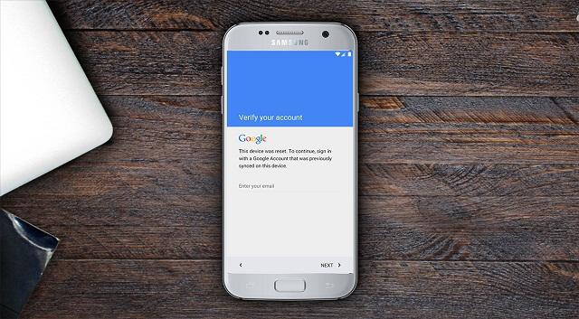 Giao diện đăng nhập Google Account trên Samsung