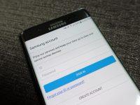 Giao diện đăng nhập Samsung Account