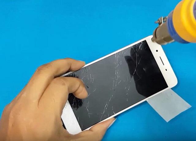 Điện thoại Vivo bể kính cần thay kính