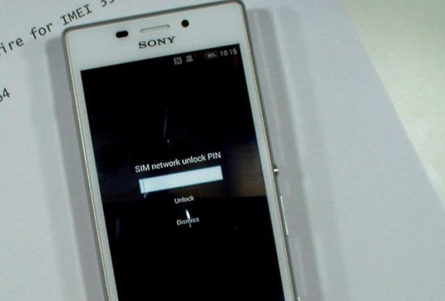 Điện thoại Sony lock yêu cầu nhập code