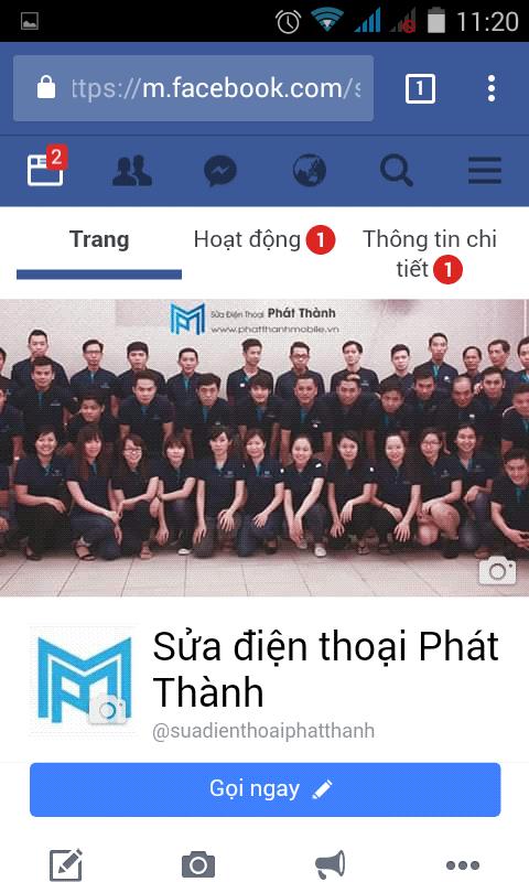 Đến Trang chủ Fanpage mà bạn quản lý